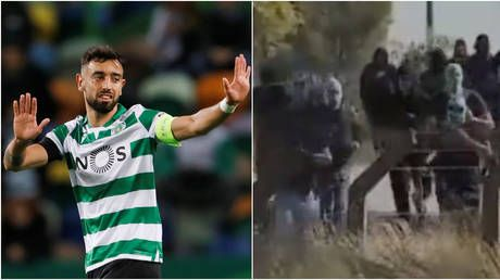 Going down: JAIL for violent mob who made Man United ace Bruno Fernandes fear for life at Cristiano Ronaldo's first club