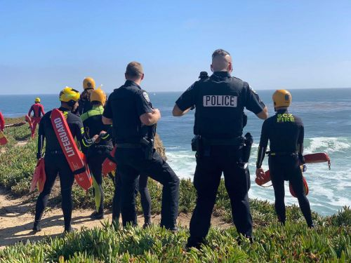 A 100-mph car chase in California ends with suspect driving over cliff and into the Pacific Ocean