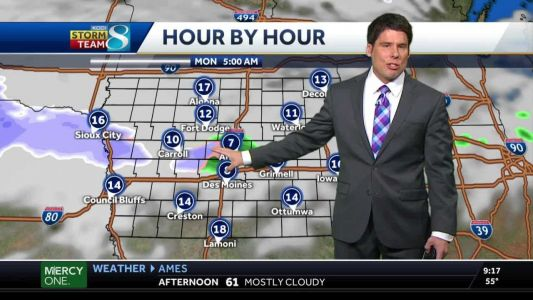 Some snow to possibly arrive Monday