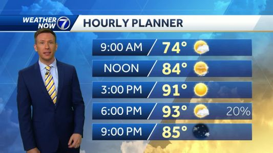 Hot Friday, record highs possible Saturday and Sunday