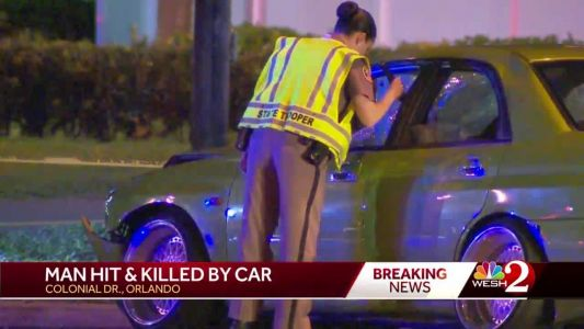 Man struck, killed crossing Colonial Drive, FHP says