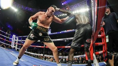 'Now you see how hard he hits?' Incredible ringside footage shows Fury's punching power as he decks Wilder