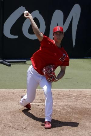 Angels' Ohtani throws off mound for 1st time since surgery
