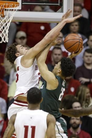 Indiana uses late charge to beat No. 11 Michigan State 67-63