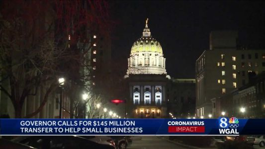 Gov. Wolf urges General Assembly to allocate $145M in relief for small businesses