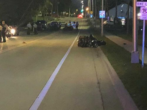 1 in critical condition after motorcycle accident
