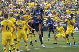 Crew snap 10-game winless streak, beat Impact 2-1