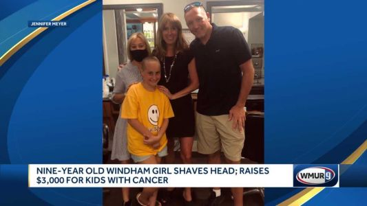 'She's an amazing girl': 9-year-old girl shaves head to raise money for kids with cancer