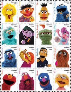 Postal Service celebrates Sesame Street's 50th anniversary with new stamps