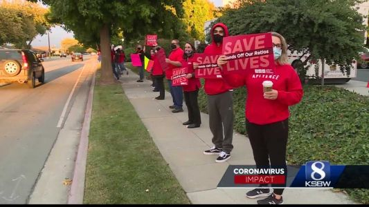 Nurses protest for more PPE after 8 nurses at SVMH test positive for COVID-19