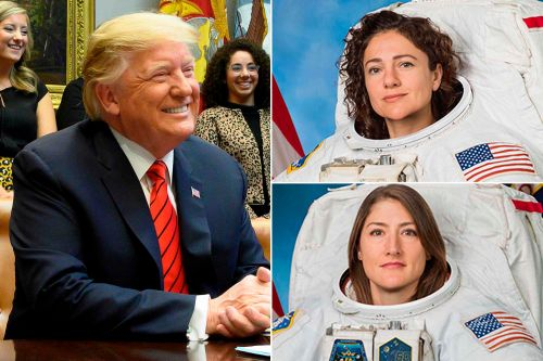 Trump calls first female spacewalking team as they make history