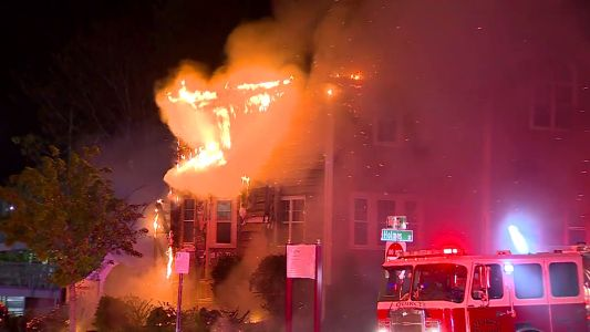10 people displaced by 3-alarm fire in Mass. apartment building