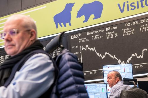 Stocks trade higher, shrugging off AstraZeneca vaccine concerns, while traders take profit in oil and Bitcoin