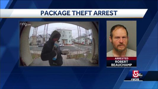 Porch pirate arrested after being caught on cam