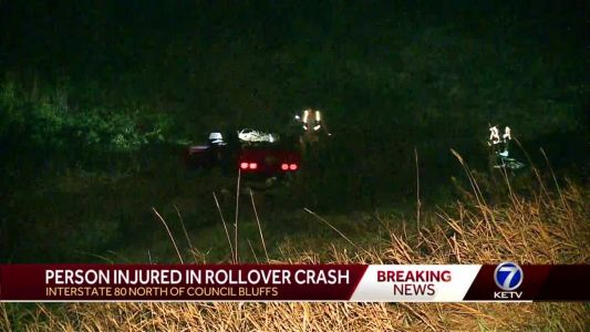 Crash on I-80 sends one person to the hospital