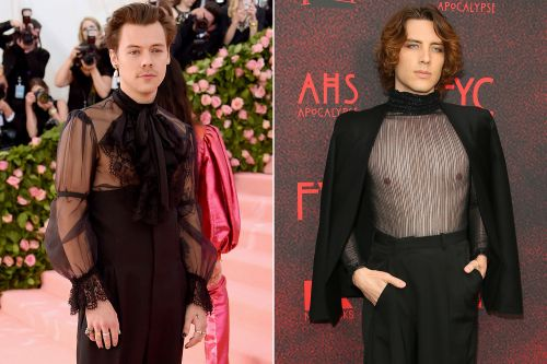 Hollywood's leading men are freeing the nipple on the red carpet