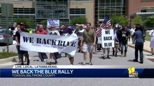 'We Back the Blue' march shows support for law enforcement