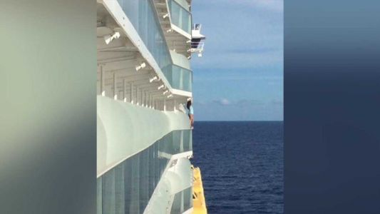Woman who stood on ship's railing for selfie barred for life from cruises