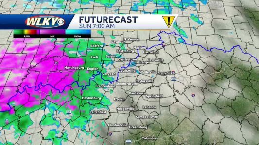 Wintry mix to showers for Sunday