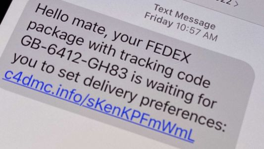 Scam text message: Be wary of this delivery notification