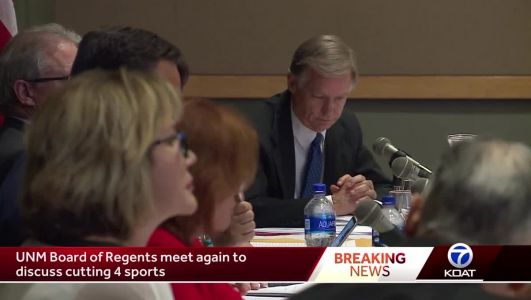 UNM regents vote on sports cuts for a second time
