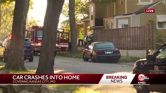 Serious injuries reported after car crashes into KC home