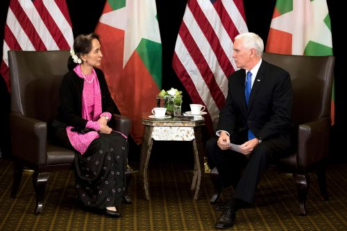 Pence calls out the horrors in Myanmar