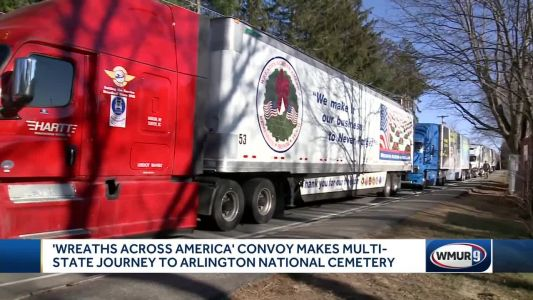 Wreaths Across America convoy makes stop in Hampton