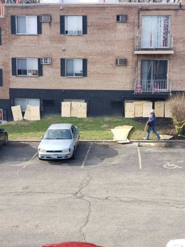 Tenants not allowed back in after roof collapse say belongings are getting stolen