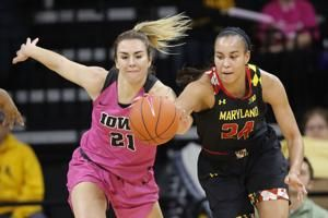 Gustafson, No. 14 Iowa beat No. 7 Maryland 86-73