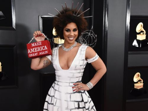 The designer behind Joy Villa's 'Build the Wall' dress that went viral at the Grammys is 'very proud' of her work