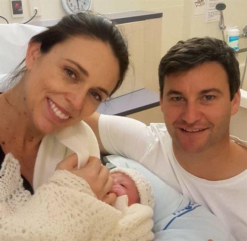 New Zealand's leader gives birth - and begins 6 weeks of maternity leave