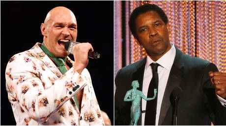 'He'll need a punch in the throat!' Tyson Fury wants Denzel Washington to play him on screen - and gives movie legend tips