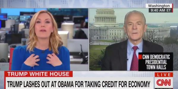 A top Trump economic adviser clashed with a CNN anchor during a segment where he was shown data that contradicted his claims