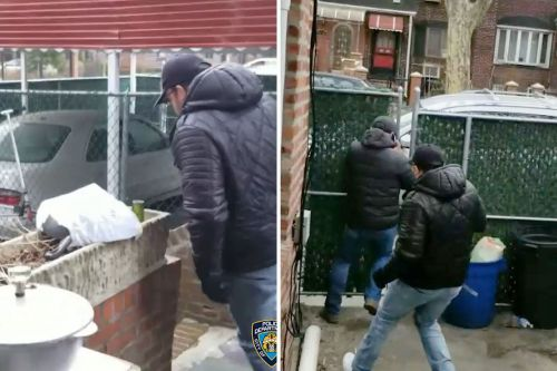 Homeowner catches burglars on video as he chases them away