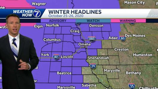 Snow becomes widespread Sunday, impacts in Omaha late