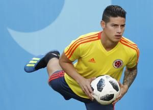 Colombia's Rodriguez not confirmed for World Cup opener