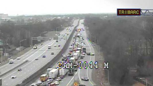 I-64 reopens near Blankenbaker Parkway after wreck