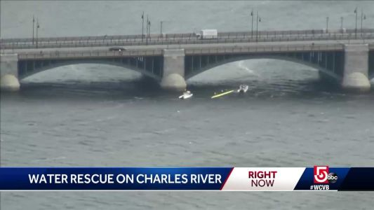 2 MIT crew boats capsize in choppy Charles River