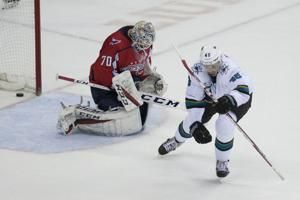 Hat tricks for Hertl, Ovechkin as Sharks beat Caps 7-6 in OT