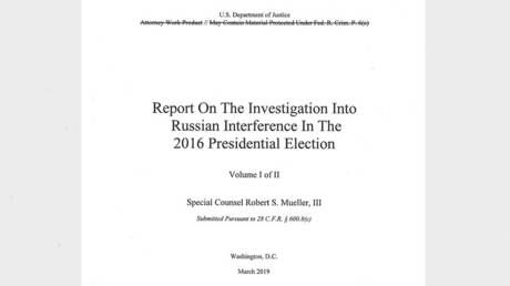 US Justice Department releases Mueller report on Trump-Russia 'collusion' investigation