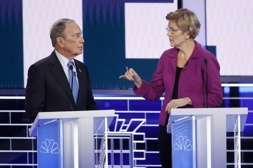 Warren hits Bloomberg while he's down