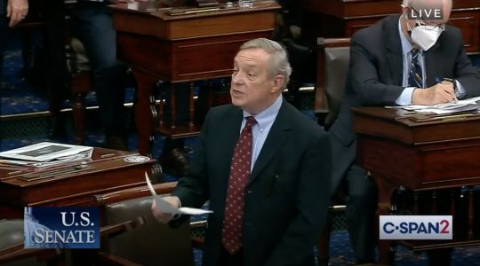 Ted Cruz's claims about undocumented people getting $1,400 stimulus checks were shot down by Dick Durbin as 'just plain false'