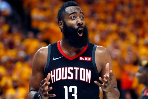 James Harden finds shooting touch in nick of time as Rockets nip Jazz