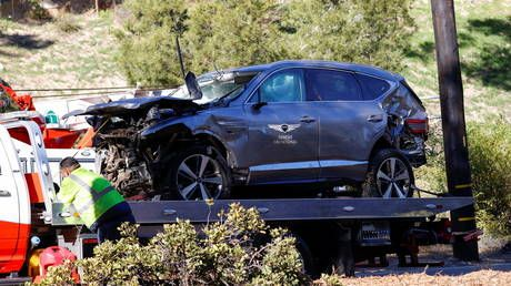Tiger Woods suffers 'serious injuries' to BOTH legs in car crash, but 'jaws of life' weren't used - sheriff