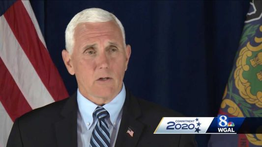"""Vice President Mike Pence says, """"The election is a choice between free enterprise system and socialist policies"""""""