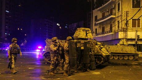 Clashes erupt between Lebanese army and Covid lockdown protesters, Red Cross says dozens injured
