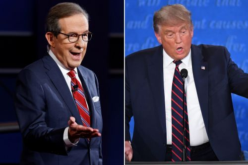 Trump, moderator Chris Wallace spar in early moments of presidential debate