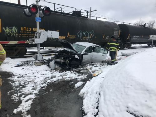 'It's a miracle': 3-year-old in car seat unhurt after train hits car on tracks