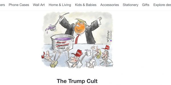 The Trump campaign tried to get a satirical cartoon of the president removed from the shopping site Redbubble